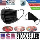 50 Pcs Medical Health Safety Protective Face Mouth Mask 3 Layers Protection In Stock Black Color