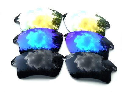 01d6823bb3 Buy Galaxylense replacement for Oakley Fast Jacket XL Blue   Black ...