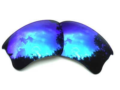 Galaxy Replacement For Oakley Flak Jacket XLJ Blue Color Polarized