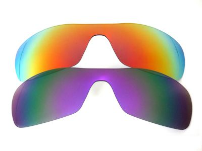 Galaxylense replacement for Oakley Antix Purple&Red Polarized 2 Pairs
