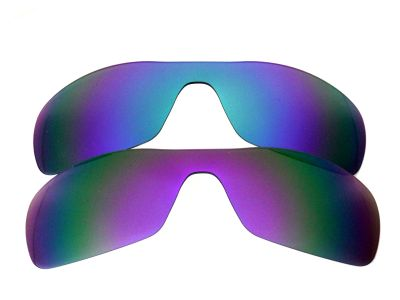 Galaxylense replacement for Oakley Antix Purple&Blue Polarized 2 Pairs