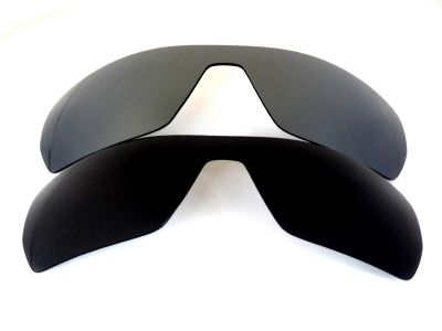 Galaxylense replacement for Oakley Antix Black&Gray Polarized 2 Pairs