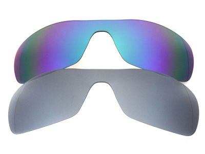 Galaxylense replacement for Oakley Antix Blue&Gray Polarized 2 Pairs