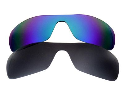 Galaxylense replacement for Oakley Antix Green&Black Polarized 2 Pairs