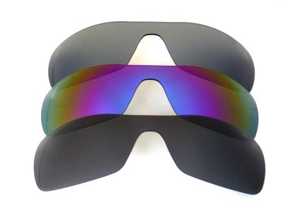 Galaxylense replacement for Oakley Antix Black&Purple&Gray Polarized 3 Pairs
