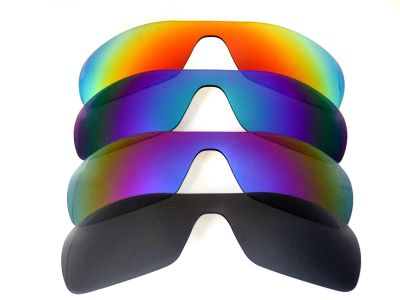 Galaxylense replacement for Oakley Antix Black&Purple&Green&Red Polarized 4 Pairs
