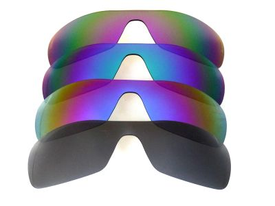 Galaxylense replacement for Oakley Antix Black&Purple&Blue&Green Polarized 4 Pairs