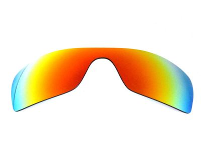 Galaxy Replacement Lenses For Oakley Batwolf Fire Red Polarized 100%UVAB