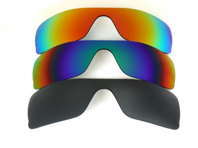 Galaxylense replacement for Oakley Batwolf Black&Blue&Red Polarized 3PAIRS