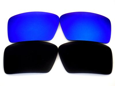 Galaxylense replacement for Oakley Eyepatch 1&2 Black&Blue Color Polarized 100% UVAB 2 pairs