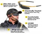 ICE E SS Military Tactical Sunglasses Anti UV 3 Lenses With Optical Holder And Hard Case Khaki Color