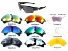 Galaxylense replacement for Oakley Fast Jacket XL 9 Color Pairs
