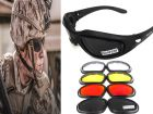 Air Soft Combat Tactical Military Ballistic Shooting Sunglasses With 4 Lenses And Protection Case