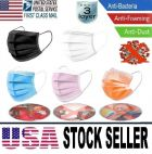 50 Pcs Medical Health Safety Protective Face Mouth Mask 3 Layers Protection In Stock Black 10,Blue 10,White 10,Pink 10,Orange 10