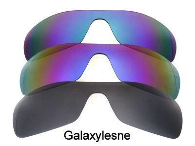 Galaxylense replacement for Oakley Antix Black&Purple&Green Polarized 3 Pairs